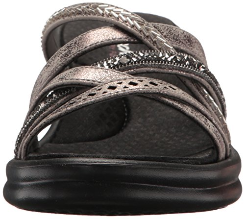 Slide Rumbler Lassie Wave Sandal New Pewter Women's Skechers n5xqwSIX5