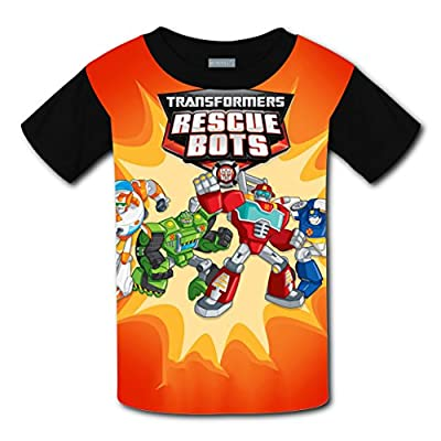 MAOXIANDER Kids Youth 3D Printed Transformers Rescue Bots O-Neck T Shirt Tee