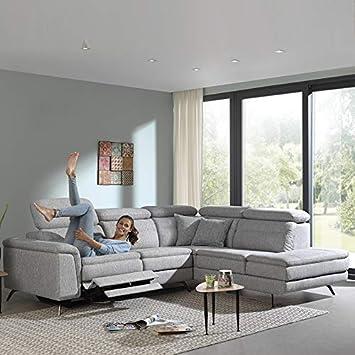 Kasalinea - Sofá de Esquina Relax eléctrico Alvaro - Chaise ...