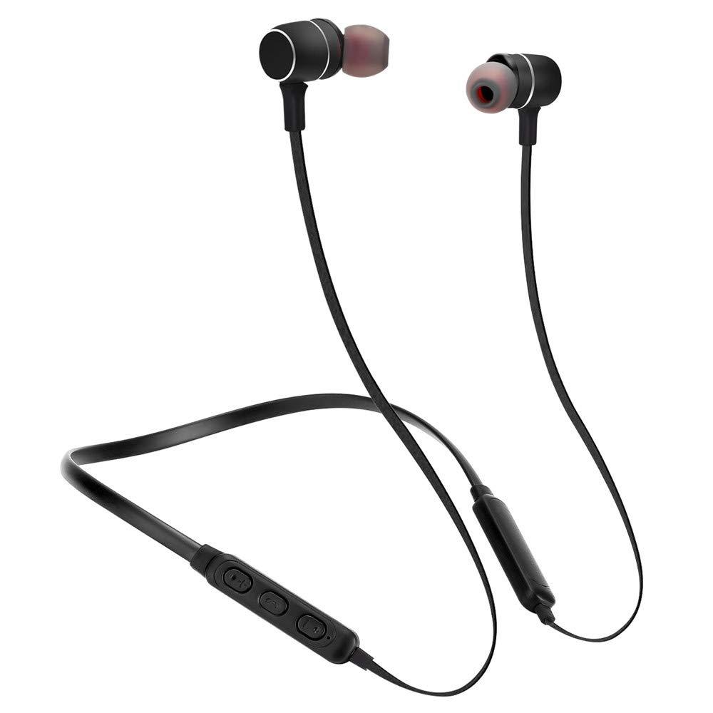Linmkey Bluetooth Headphones Magnetic Earbuds Wireless Headset Waterproof Stereo Sweatproof Earbuds Noise Cancelling Headsets