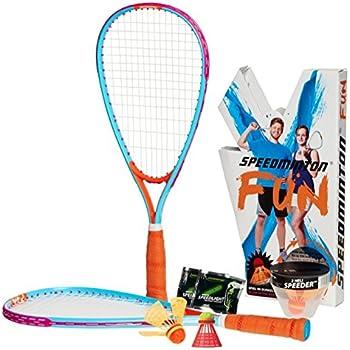 Speedminton FUN Set - Alternative to beach ball, spike ball, badminton, incl. 1 HELI and one FUN Speeder, perfect for the beach, park or backyard