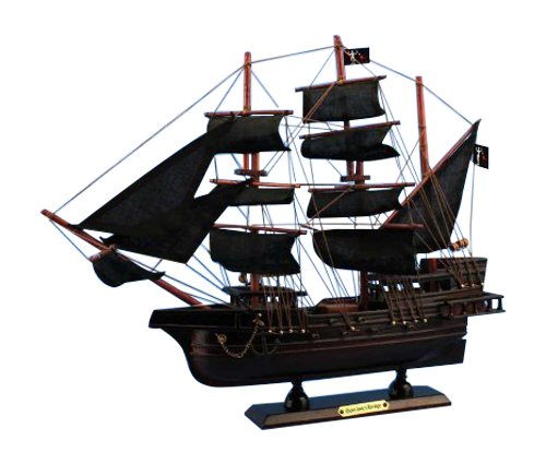Wooden Pirate - Hampton Nautical  Blackbeard's Queen Anne's Revenge Pirate Ship, 15