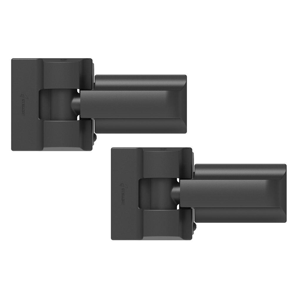 Boerboel Gate Solutions 73014253 Heavy-Duty Modern Wrap Hinge Pair, Black