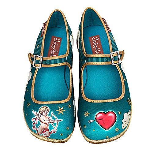 (Hot Chocolate Design Chocolaticas Cupid Women's Mary Jane Flat Multicoloured HCD)