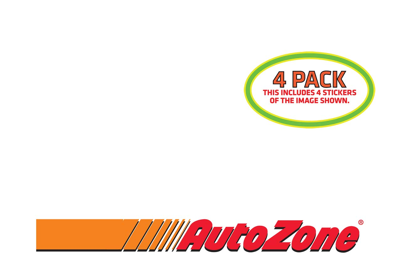 Amazon com htm autozone sticker vinyl decal 4 pack automotive