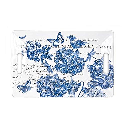 - Michel Design Works Melamine Serving Tray, Indigo Cotton, Medium