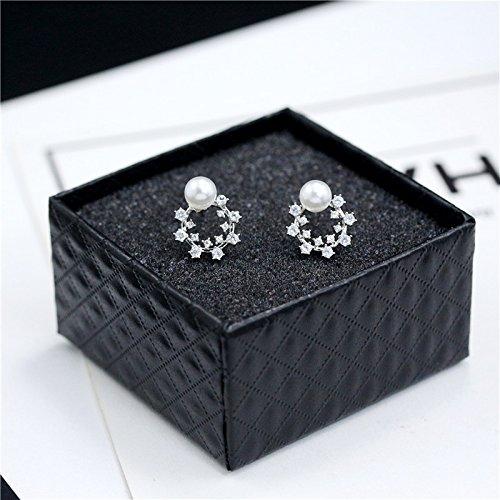 usongs Natural pearl earrings 925 sterling silver mini pure elegant hypoallergenic earrings personalized small ear bone nail