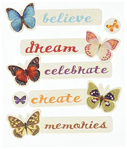 K&Company EK Success Butterfly Words Adhesive - Words Chipboard