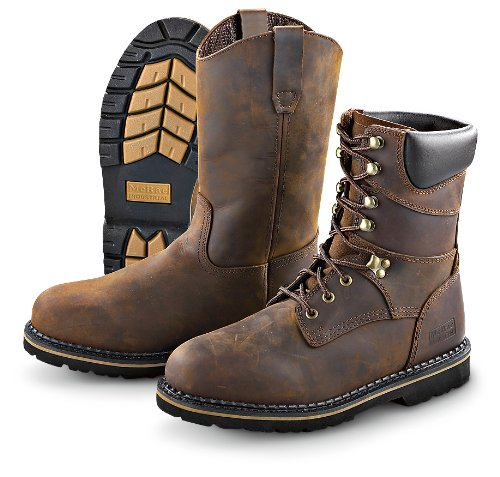 McRae Industrial Men's 8-Inch Soft Toe Lace-Up Work Boots -  MR88144