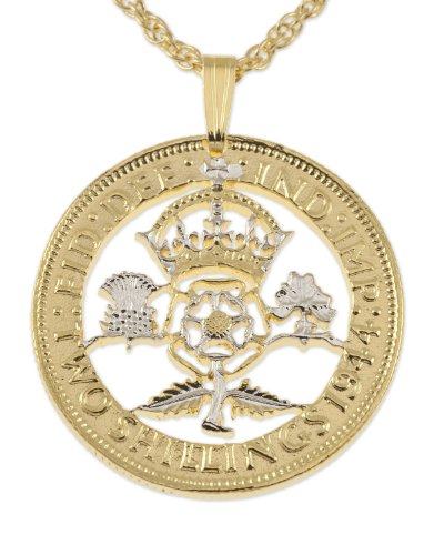 Great Britain Pendant & Necklace, British Florin (Two Shilling)