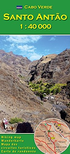 Cabo Verde: Santo Antao 1:40000 (Cape Verde hiking map series) ()