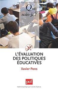 L'évaluation des politiques éducatives par Xavier Pons