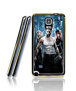 Galaxy Note 4 Funda Case, Wolverine Film Simple Pattern Golden - Bordered [2 in 1] Scratch-Proof Personalized + Tiny Plastic Back Shell For Samsung Galaxy Note 4