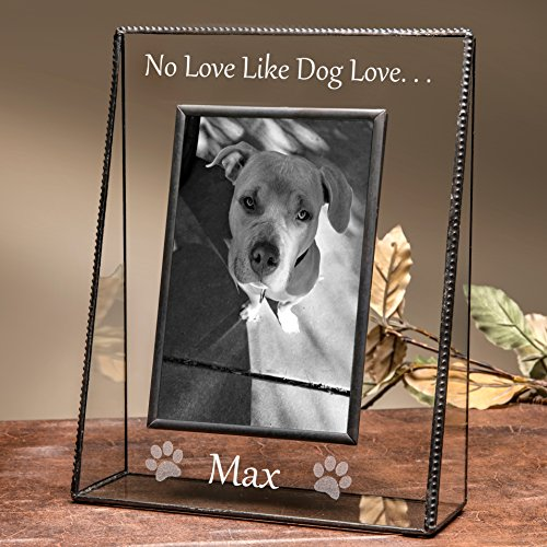 J Devlin Pic 319-46V EP592 Personalized Dog Picture Frame 4x6 Vertical Engraved Pet Photo (Personalized Pet Art)