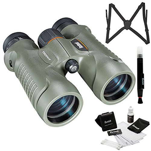 Bushnell Trophy Xtreme 10x42mm Binocular, Green (334212) with Harness and Glass Care Kit