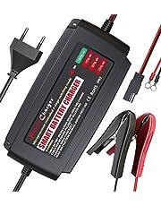 LEICESTERCN 12V autobatterie ladegerät Vollautomatisches ladegerät Auto batterieladegerät Batterie erhaltungsgerät intelligentes für KFZ PKW Motorrad (12V 5A)