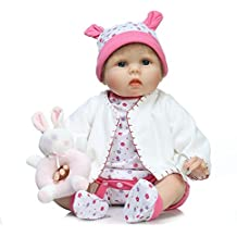 "Christmas Birthday Gift Soft 22"" Reborn Girls Silicone Babies Rooted Hair Boneca Doll Toys For Children Bebe Reborn Meninna De Silicone Holiday Wedding Reduce Anxiety Help Autism Pregnant Women"