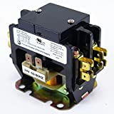 YuCo CN-PBC302-24 DEFINITE PURPOSE CONTACTOR 30A 2P 24V 30 FLA 40 RES FITS DP30C2P-F AC & HEATING CONTACTOR AIR CONDITIONING CONTACTOR HVAC CONTACTOR