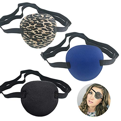 3 PCS Pirate Eye Patches, Adults Medical Eye Patch