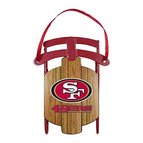 NFL San Francisco 49ers Metal Sled Ornament San Francisco 49ers Ornaments