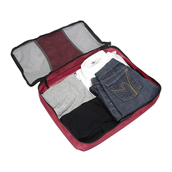 """eBags Large Classic Packing Cubes for Travel - 3pc Set 4 INCLUDES 3 Large PACKING CUBES: Dimensions are 17.5"""" x 12.75"""" x 3.25""""; great for packing sweaters, jeans, dress pants, etc. SUPERIOR QUALITY: Highest construction standards utilized, making it a customer-favorite, packing cube of choice. Includes premium self-healing zippers with corded pulls for a lifetime of opening and closing. DURABLE & CONVENIENT: Interior seams fully finished for durability and soft mesh tops won't damage delicate fabrics or dress clothes. Mesh allows for easy identification - no more digging around!"""