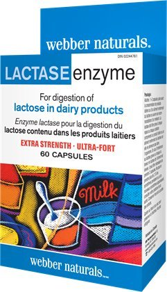 Webber Naturals Lactase Enzyme Extra Strength, 60 Capsules by Webber Naturals