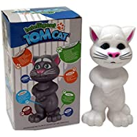 Empyreal collection Intelligent Touching Talking Tom Cat with Wonderful Voice, Stories and Songs, Touch Functions (White, EC1005)