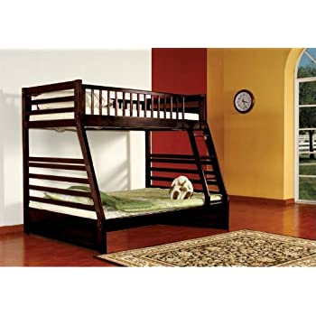Amazon Com Twin Over Full Bunk Bed With Built In Ladder Kitchen