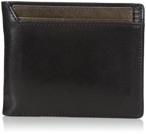 Dopp Men's Alpha RFID Blocking Id Deluxe Billfold Three In One Slim Front Pocket Wallet