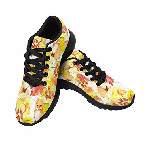Scarpe Da Corsa Trail Running Da Donna Jogging Leggero Sportivo Da Passeggio Sneaker Atletico Autunno Foglie E Volpe Multi 1