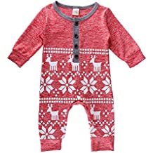 ZHUOTOP Baby Girl Boy Romper Infant jumpsuit Christmas Clothes Knitted Sweaters Bodysuit Playsuit