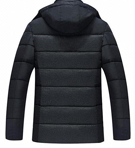 Coat Black TTYLLMAO Jacket Men's Hooded Down Puffer Thicken Outwear wgqUB4xzg