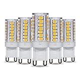 G9 LED Light Bulb 5W T4 40W Halogen Replacement by Simba Lighting for Pendants, Ceiling Lights, Desk Lamp, Wall Sconce, 120V JCD Bi-Pin Base Non-Dimmable, 3000K Soft White, Pack of 5
