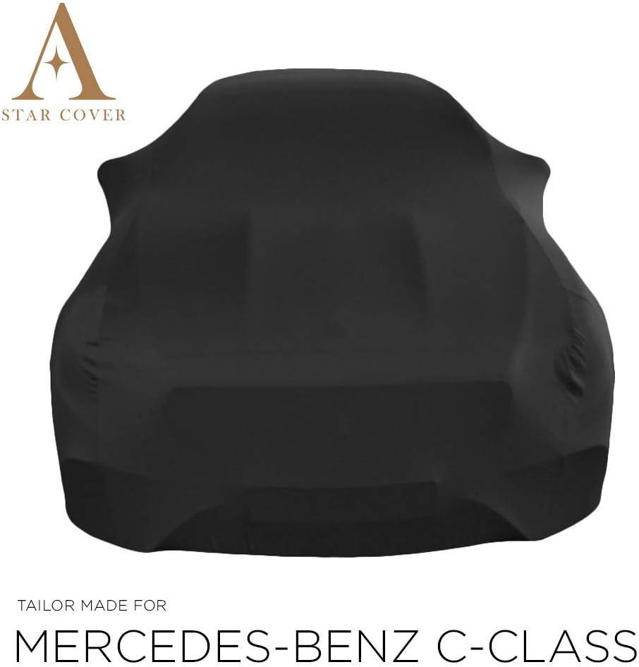 | Noir Housse B/ÂCHE Auto Garage LIVR/É Rapide Star Cover Housse INT/ÉRIEUR Compatible avec Mercedes-Benz C-Class C205 Housse Cabriolet Voiture DE Sport Oldtimer