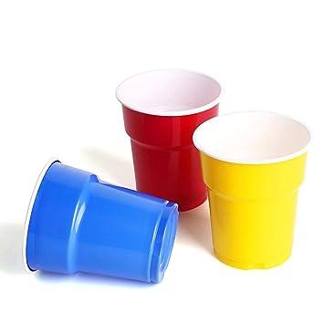 Queta Vasos desechables, 200 ml, vasos de plástico, 60 unidades/juego de