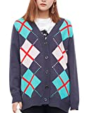Product review for Zoulee Girls Christmas Lingge College Cardigan Sweater Lattice Thicker Cardigan