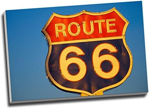 Ruta 66 Landmark lienzo de cartel de pared Arte imagen ...