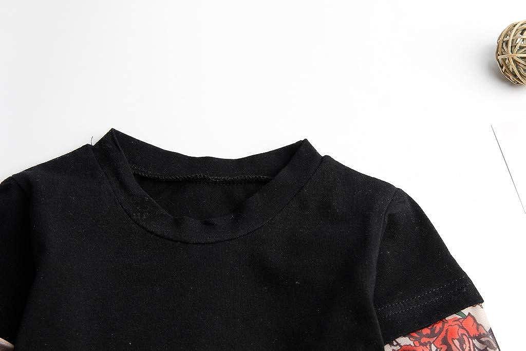 K-Youth para 1 a 6 a/ños Ropa Bebe Ni/ño Oto/ño Invierno Estilo Hip Hop Manga del Tatuaje Camiseta Bebe Blusa de Ni/ños Ropa para Ni/ña Primavera Chandal Ni/ñas Tops Bebes Ofertas