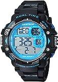 Armitron Sport Men's 40/8309BLU Blue Accented Digital Chronograph Black Resin Strap Watch