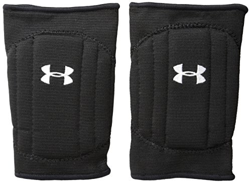 Under Armour Youth Volleyball Knee Pad, Black/Black/White, Small/Medium