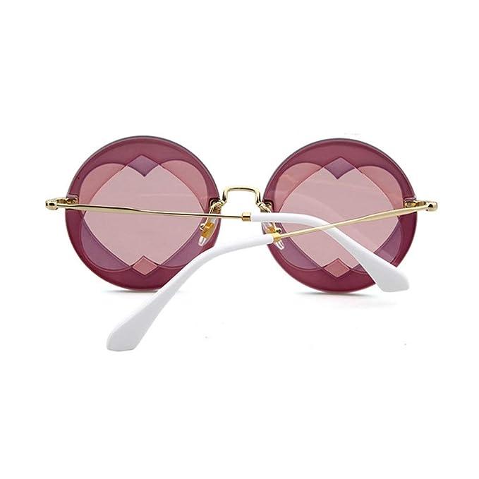 Wang-RX Sin montura en forma de corazón gafas de sol de ...