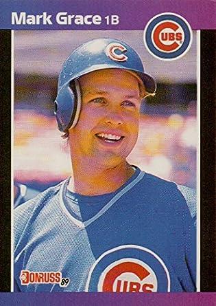 Mark Grace Rookie Baseball Card 1989 Donruss Baseball Card 255