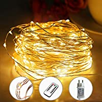 [220 LED] Lichterkette, 25M 8 Modi lichterkette außen strom lichterketten wasserdicht außen/innen Kupfer Lichterketten...