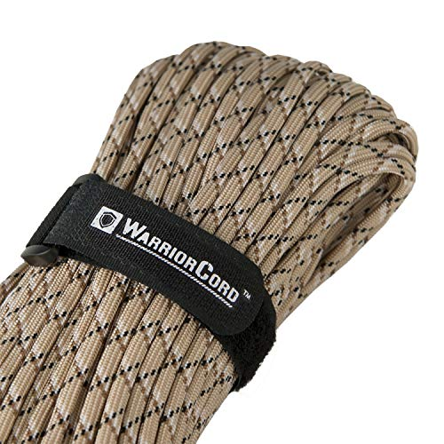 Titan WarriorCord   Desert-CAMO   103 Continuous FEET   Exceeds Authentic MIL-C-5040, Type III 550 Paracord Standards. 7 Strand, 5/32