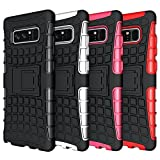 Galaxy Note 8 Case, HLCT Rugged Shock Proof Dual-Layer Case with Built-In Stand Kickstand for Samsung Galaxy Note 8 (2017) (Black)