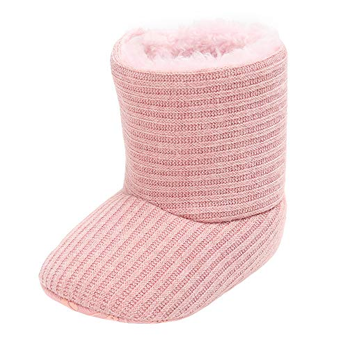 Baby Autumn Winter Boots,Jchen(TM) Baby Girl Keep Warm Plush Soft Snow Boots Soft Crib Winter Boots Prewalker Warm Shoes for 0-18 Months (Age: 0-6 Months, Pink)]()
