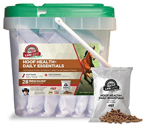 Formula 707 Hoof Health + Daily Essentials Combo Fresh Packs Equine Supplement, 28 Packs - Biotin, Amino Acids, and Minerals to Improve Hoof Health Plus Complete Vitamins and Minerals for Horses