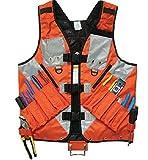 Vhouse General Hardware Tools Vest Electrician Carpenter Plumber Construction Pipe Industrial Hardware Kit Vest Vest (Orange)
