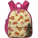 Lobster Crab Shrimp Kids Cute School Bag For Summer Camp
