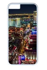 Las Vegas Strip North Custom iphone 6 plus 5.5 inch Case Cover Polycarbonate White